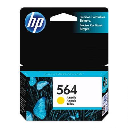 Cartucho HP Original (564) CB320WL - amarelo rendimento 300 páginas