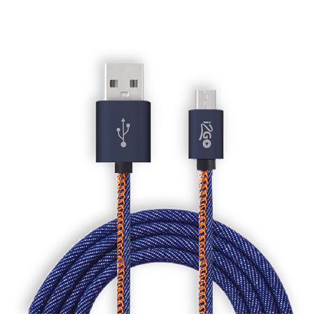 Cabo micro usb celular - I2GCBL940 - Jeans - I2GO