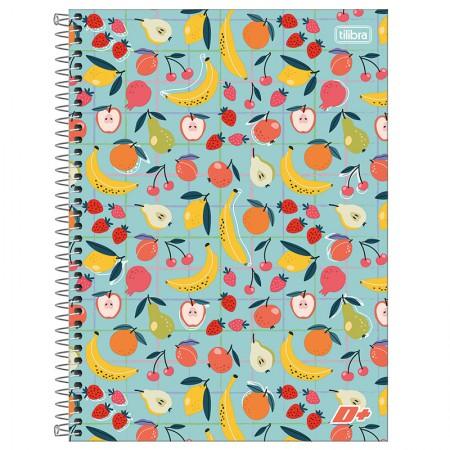 Caderno espiral capa dura universitário 10x1 - 200 folhas - D Mais - Flor - Tilibra