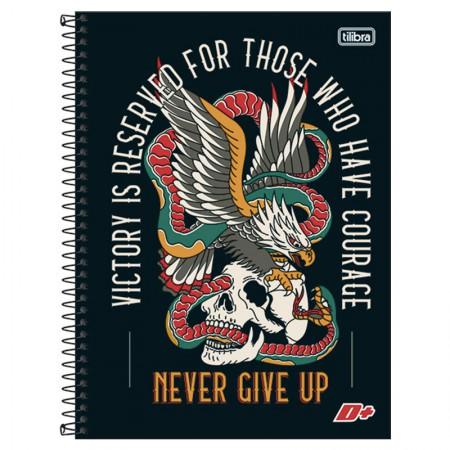 Caderno espiral capa dura universitário 10x1 - 200 folhas - D Mais - Cereja - Tilibra