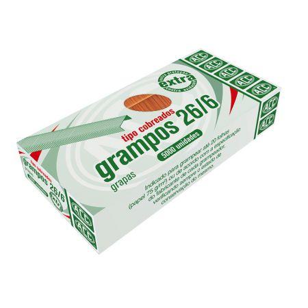 Grampo cobreado 26/6 - com 5000 unidades - ACC