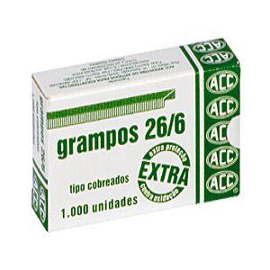 Grampo cobreado 26/6 - com 1000 unidades - ACC