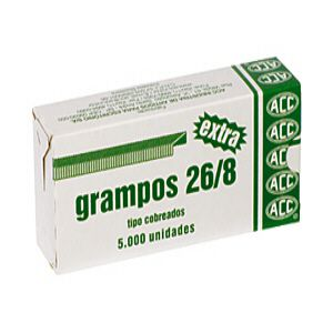 Grampo cobreado 26/8 - com 5000 unidades - ACC