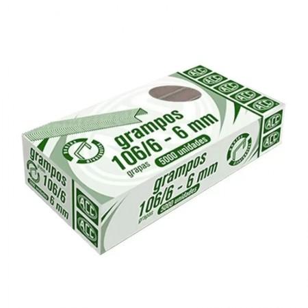 Grampo rocama 106/6 - com 5000 unidades - ACC
