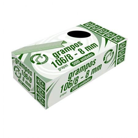 Grampo galvanizado rocama 106/8 - com 5000 unidades - ACC