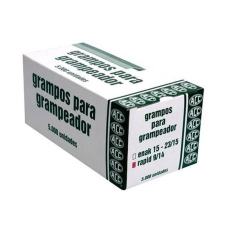 Grampo galvanizado 9/14 - com 5000 unidades - ACC