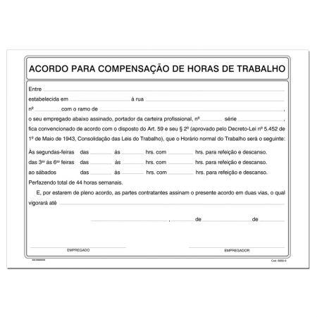 Acordo compensação horas de trabalhos - com 100 folhas - São Domingos