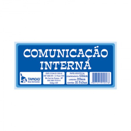 Comunição interna - com 50 folhas - Tamoio