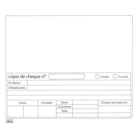 Cópia de cheque branca - com 100 folhas - Tilibra