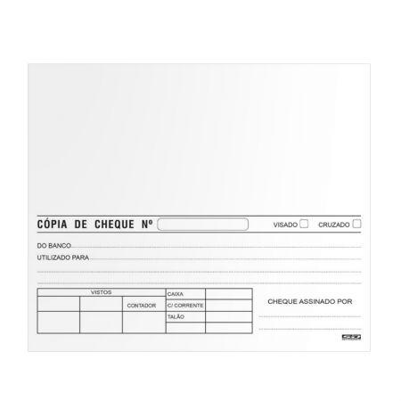 Cópia de cheque branca - com 100 folhas - São Domingos