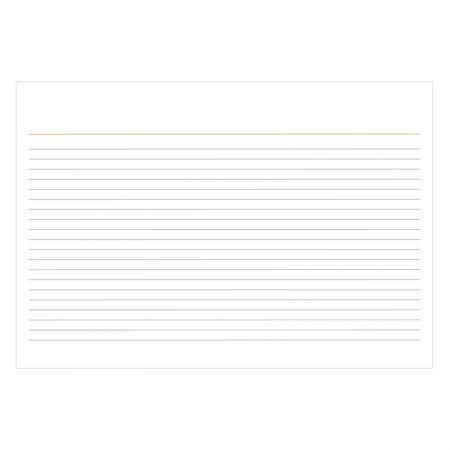 Ficha pautada 6x9 - pacote com 100 folhas - Tilibra