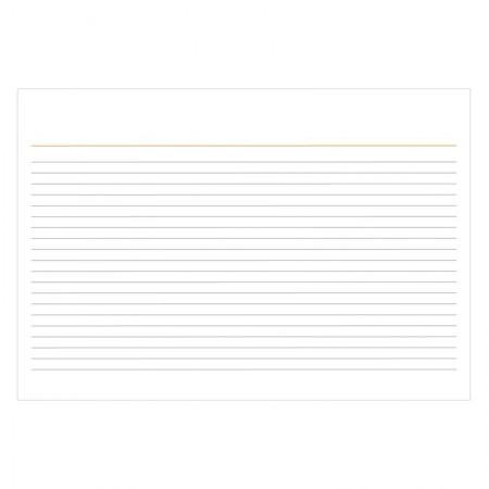 Ficha pautada 3x5 - pacote com 100 folhas - Tilibra