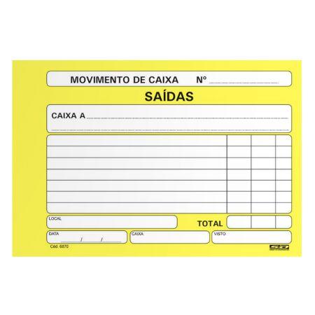 Movimento de caixa saídas/amarelo - com 100 folhas - São Domingos