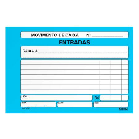 Movimento de caixa entrada/azul - com 100 folhas - São Domingos