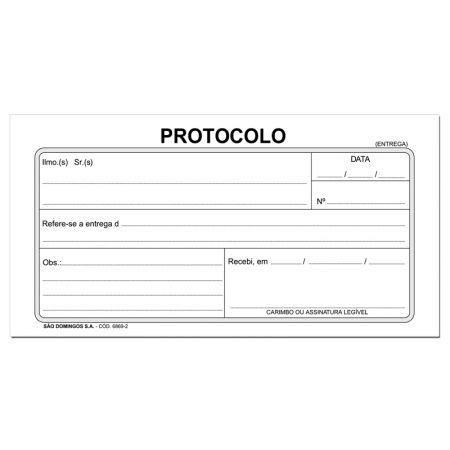 Protocolo entrega de correspondência - com 100 folhas - Tamoio