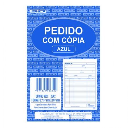 Pedido com cópia azul 25x2 - 137x207mm - São Domingos