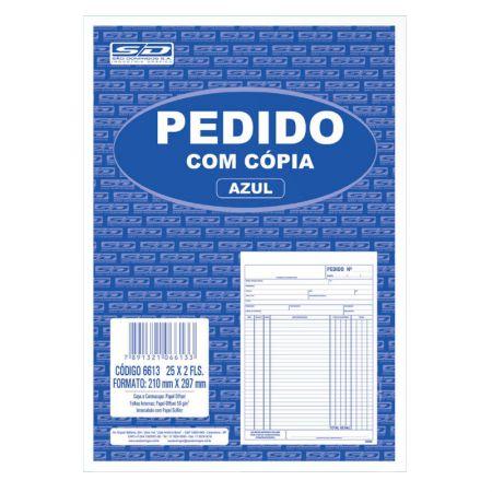 Pedido com cópia azul oficio 25x2 - 210x297mm - São Domingos