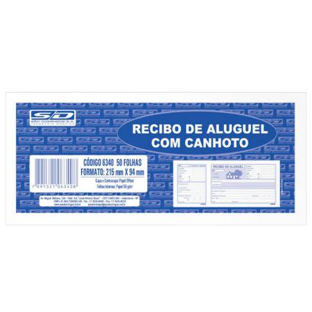 Recibo de aluguel com canhoto 50 folhas - São Domingos