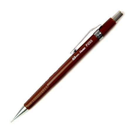Lapiseira 0.3mm P203 - marrom - Pentel