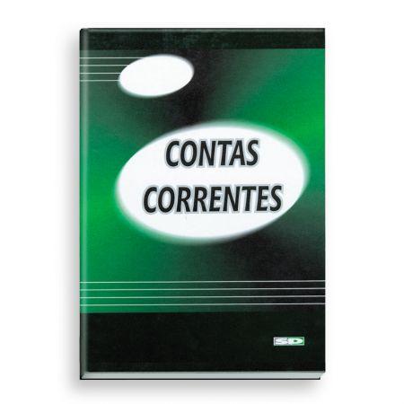 Livro conta corrente 1/4 - com 100 folhas - São Domingos
