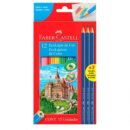 Lápis de cor 12 cores - 120112+3GR - Faber-Castell