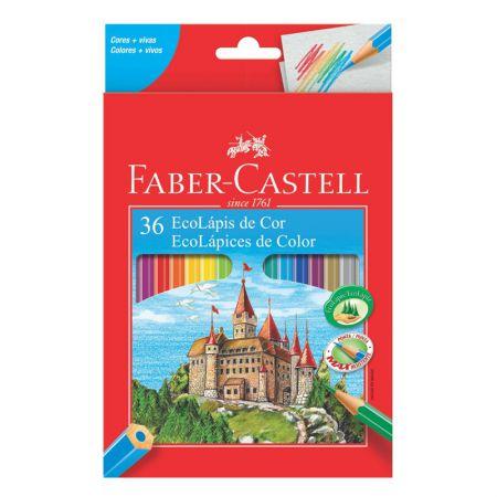 Lápis de cor 36 cores - 120136G - Faber-Castell