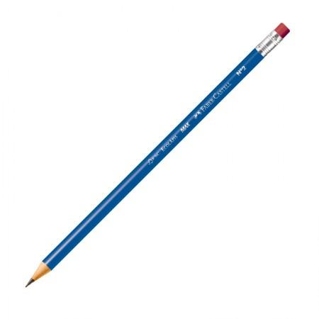 Lápis preto com borracha nr 2 - 1210AZ/B - unidade - Faber-Castell