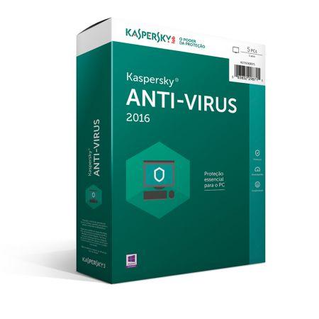 Antivírus 2017 licença de uso - 5 dispositivos - Kaspersky