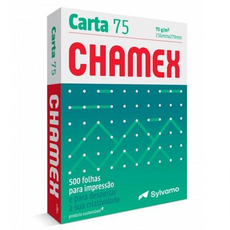 Papel sulfite carta 75g - 216x279 com 500 fls Chamex