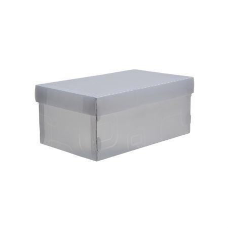 Caixa organizadora mini sapato - cristal - 2169.H - Dello