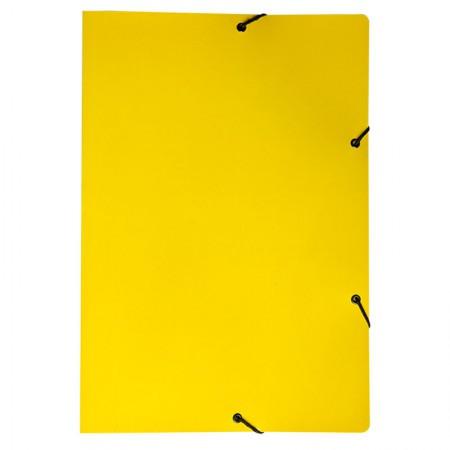 Pasta com aba elástico ofício - Duplex - amarelo - 0199.A - Dello