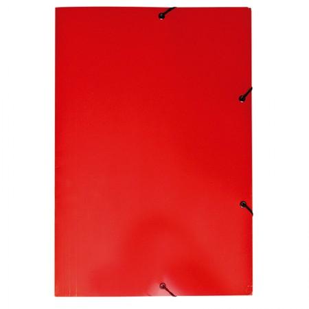 Pasta com aba elástico ofício - Duplex - vermelho - 0199.U - Dello
