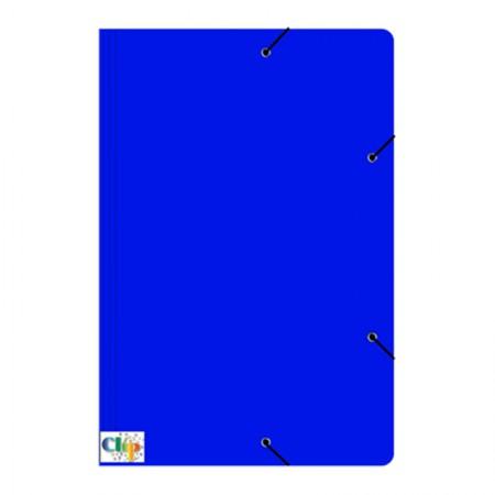 Pasta com aba elástico ofício - Duplex - azul - ClipColor