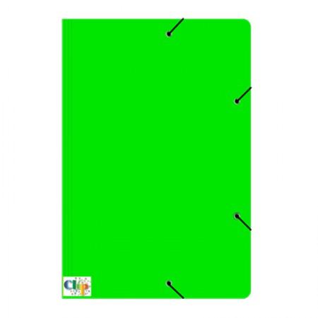 Pasta com aba elástico ofício - Duplex - verde - ClipColor
