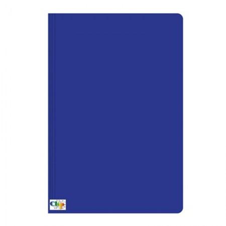 Pasta duplex com grampo ofício - azul - ClipColor