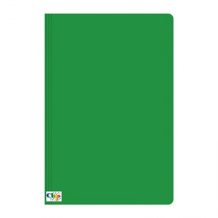 Pasta duplex com grampo ofício - verde - ClipColor