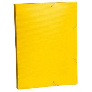 Pasta 55mm novaonda com aba e elástico amarelo - Polibras