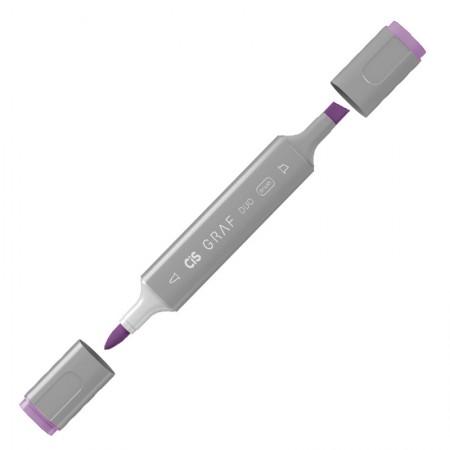 Caneta marcador artistico Graf Duo Brush - (82) - Light Violet - Cis