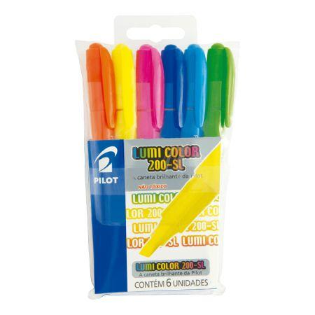 Pincel marca texto 200-SL Lumi Color - 6 cores - Pilot
