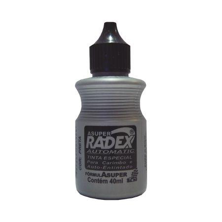 Tinta para carimbo Auto-Entintado 40ml - Preto - Radex
