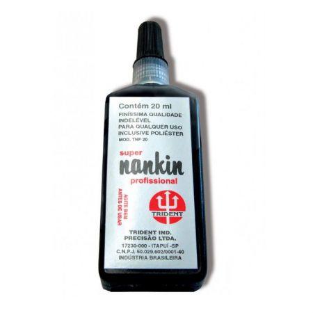 Tinta nankin profissional preto 20ml - Trident