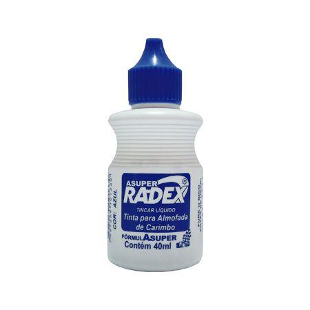 Tinta para carimbo 40ml - Azul - Radex