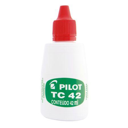 Tinta para carimbo 42ml - Vermelha - Pilot