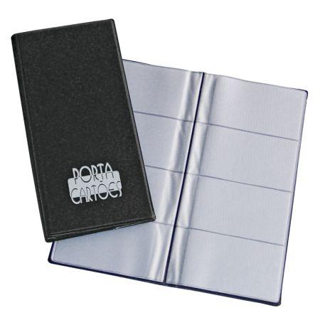 Porta cartão tipo agenda 317 - para 80 cartões - ACP