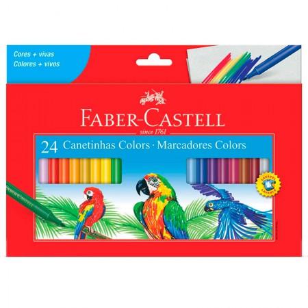 Caneta hidrográfica 24 cores 150124CZF - Faber-Castell