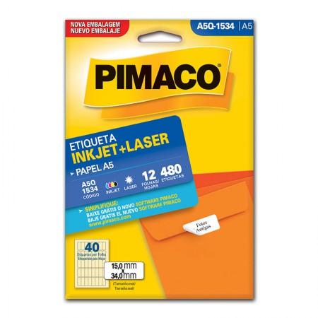 Etiqueta inkjet/laser A5Q1534 - Pimaco