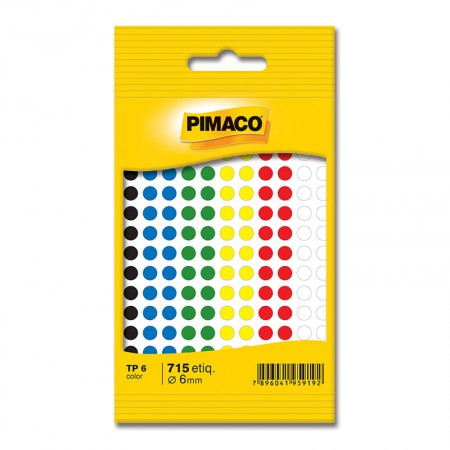 Etiqueta adesiva TP6 - cores - Pimaco