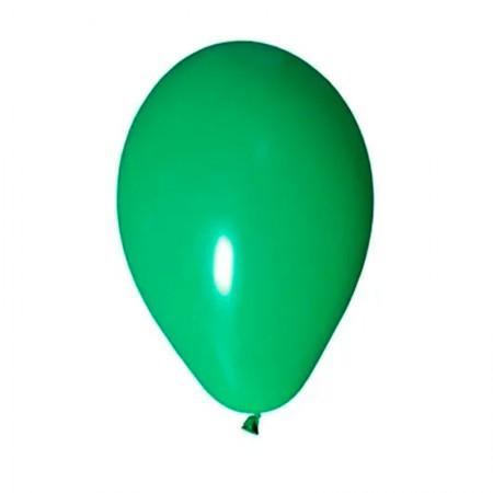 Bexiga verde número 7 - Art Festa - com 50 unidades - Balloontech