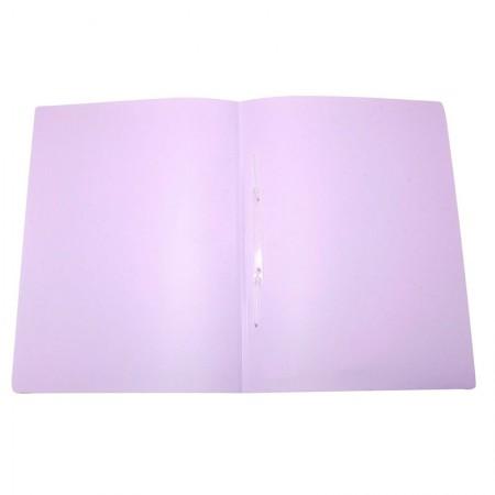 Pasta com grampo ofício plástica - Linho Serena - Lilás pastel - 295.LP - Dello