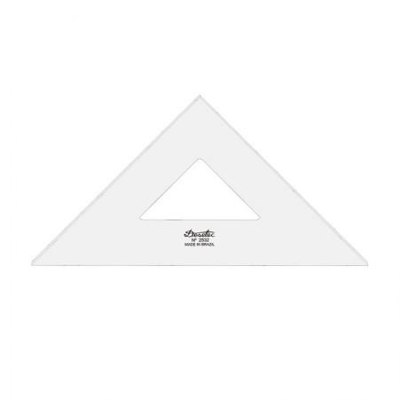 Esquadro acrílico 32cm x 45 graus sem escala 2532 - Trident
